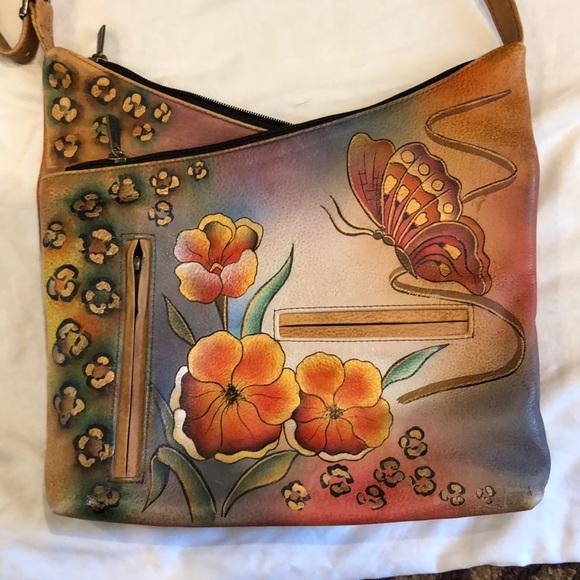 Anuschka Handbags - Hand painted Anuschka leather bag b436da38c8
